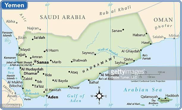 yemen country map - yemen stock illustrations, clip art, cartoons, & icons