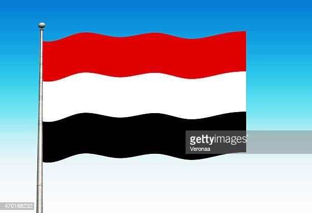 yemen flag - yemen stock illustrations, clip art, cartoons, & icons