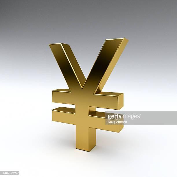 yen/renminbi symbol in gold - 中国元記号点のイラスト素材/クリップアート素材/マンガ素材/アイコン素材