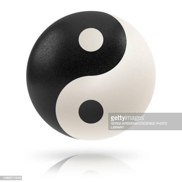 yin yang, illustration - symmetry stock illustrations