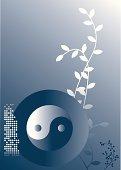 Yin-Yang d-blau