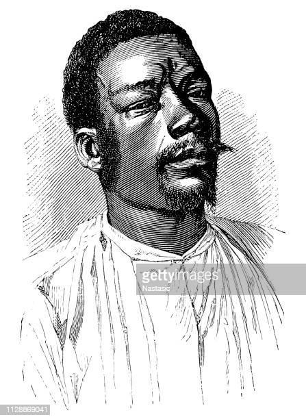 young african man - zimbabwe stock illustrations, clip art, cartoons, & icons