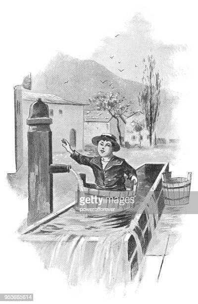 Young Boy in Oberammergau, Germany - 19th Century
