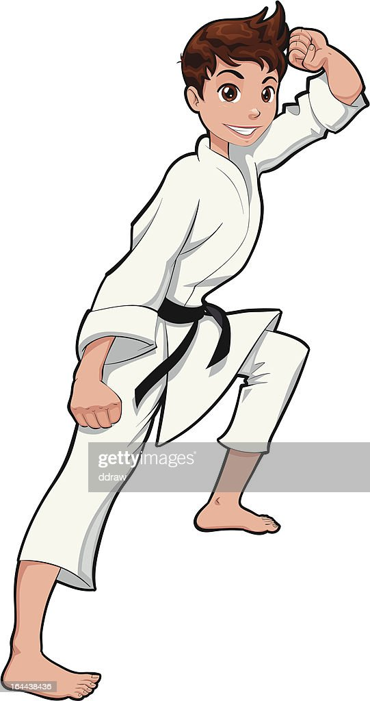 Young boy, Karate Player.