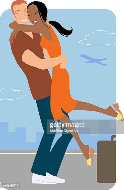 30 Meilleurs Jeune Couple Illustrations Cliparts Dessins