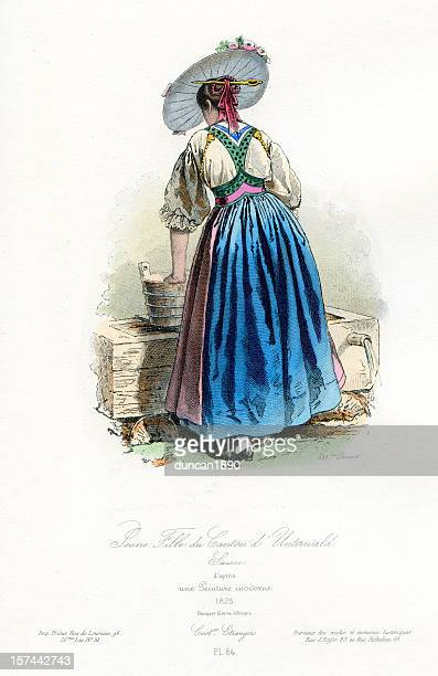 Young girl of Unterwald Period Costume