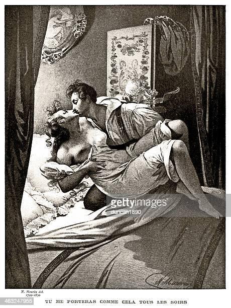 stockillustraties, clipart, cartoons en iconen met young lovers - sensualiteit