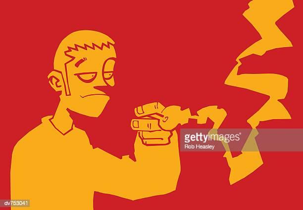 ilustraciones, imágenes clip art, dibujos animados e iconos de stock de young man smoking a pipe - fumar marihuana
