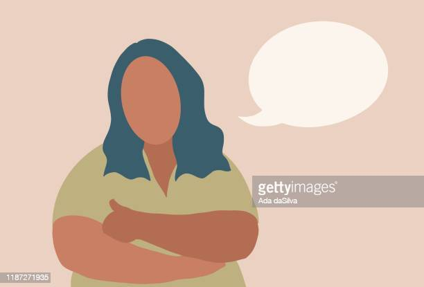 a young plus-sized women thinking - chubby credit stock illustrations