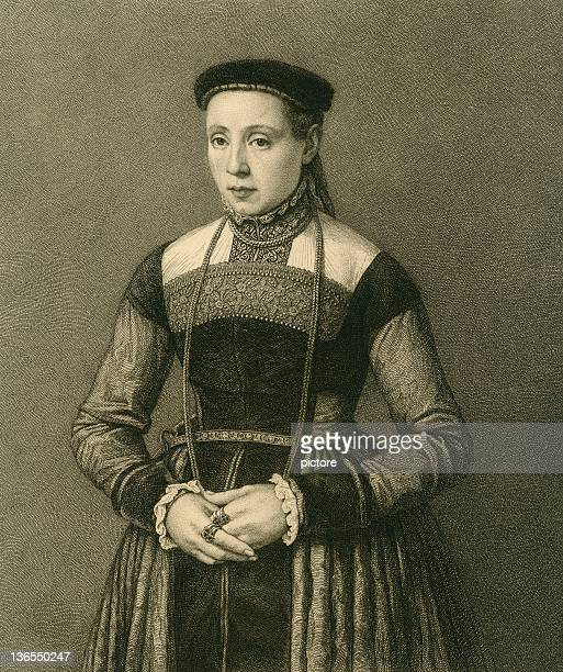young woman - circa 15th century stock illustrations, clip art, cartoons, & icons