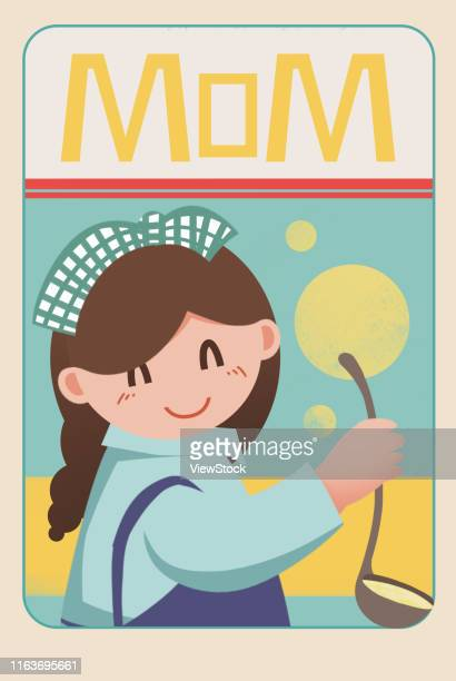young woman illustrations - mothers day text art stock illustrations