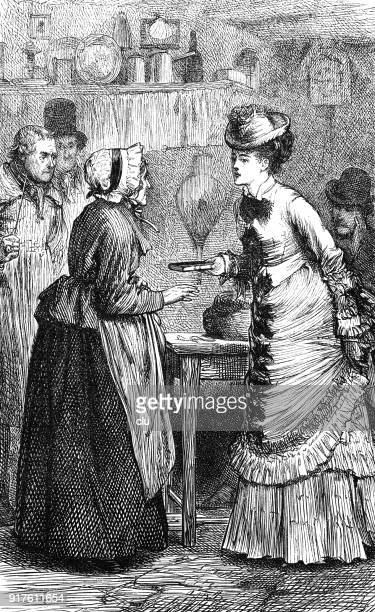 young woman receives a gift from an elder woman - 1877 stock illustrations, clip art, cartoons, & icons