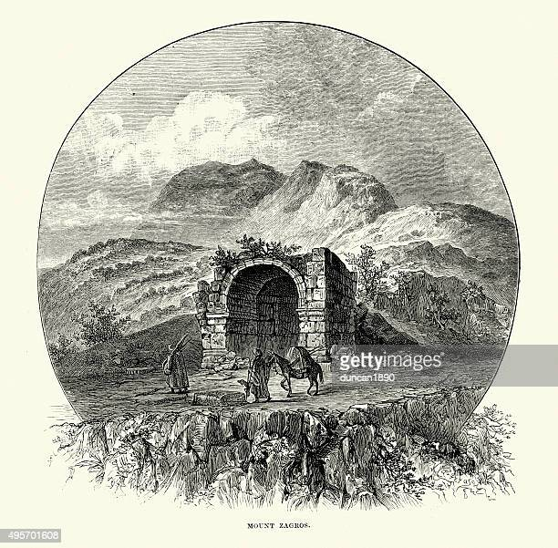 zagros mountains - architectural feature stock illustrations, clip art, cartoons, & icons