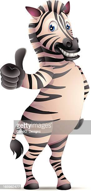 Zebra: Thumbs up!