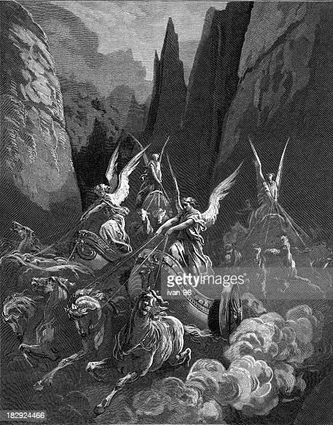 zechariah's vision - gustave dore stock illustrations, clip art, cartoons, & icons