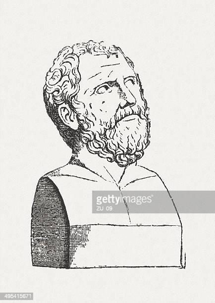 ilustraciones, imágenes clip art, dibujos animados e iconos de stock de zeno - filosofos griegos