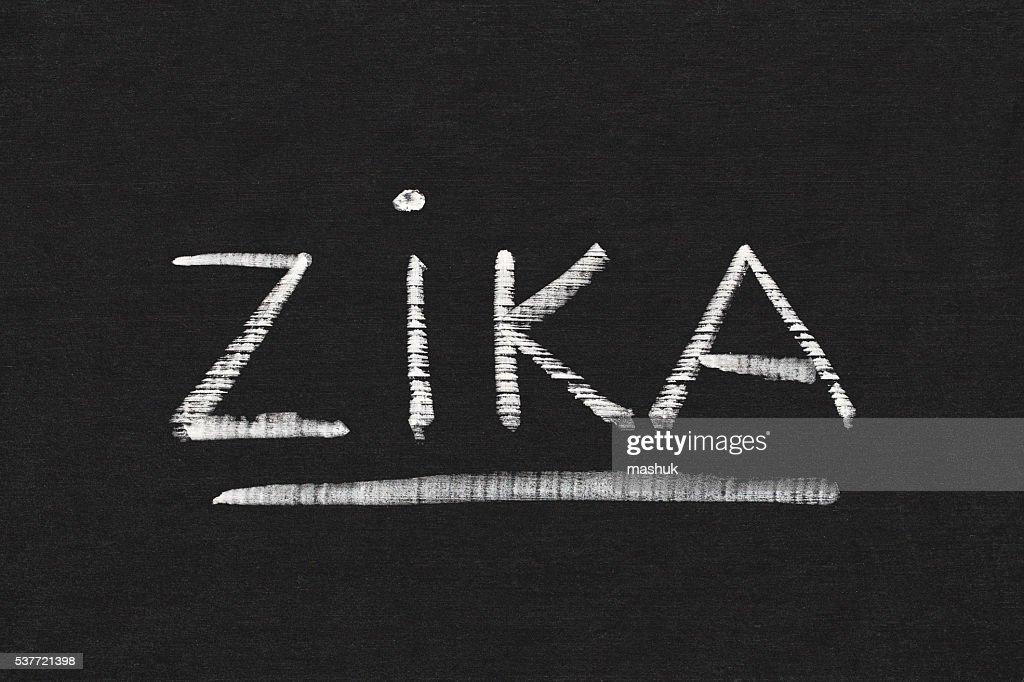 Zika Word On Chalkboard Background Stock Illustration