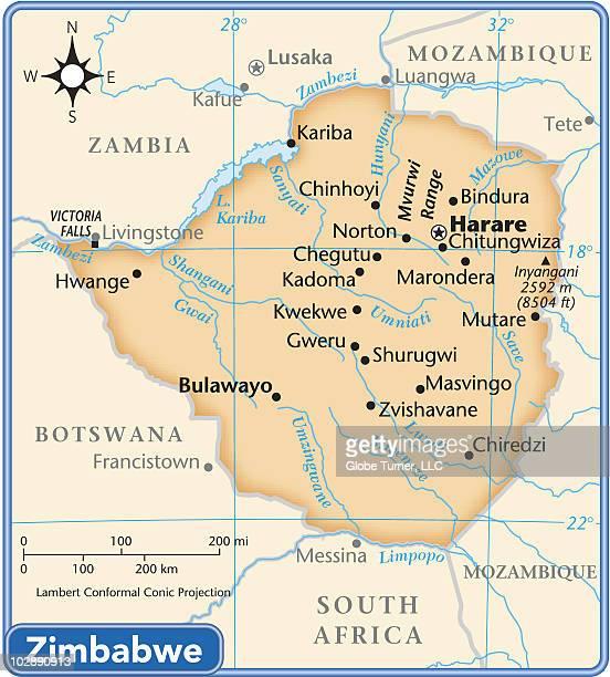 zimbabwe country map - zimbabwe stock illustrations, clip art, cartoons, & icons