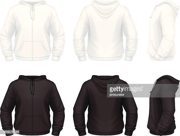 ilustrações de stock, clip art, desenhos animados e ícones de zip com capuz - casaco com capuz