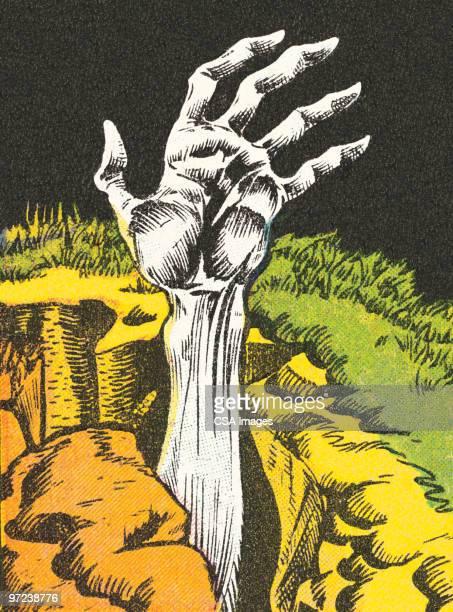 zombie hand - zombie stock illustrations, clip art, cartoons, & icons