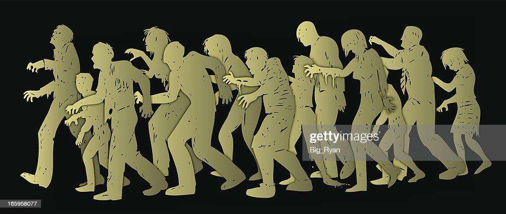 zombie hoard : stock illustration