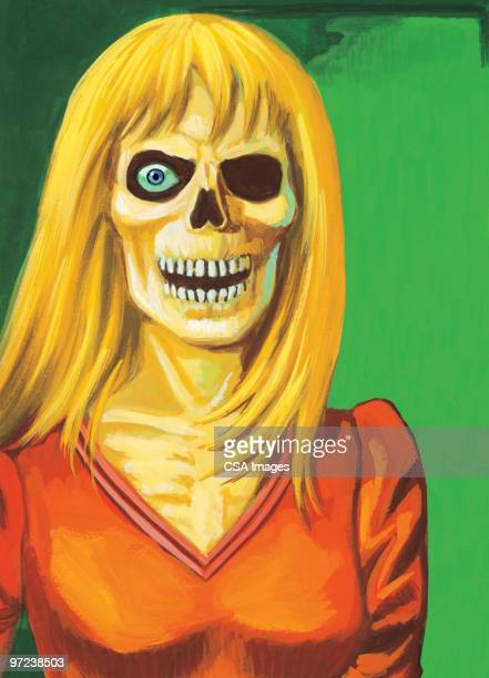 zombie woman - zombie stock illustrations, clip art, cartoons, & icons