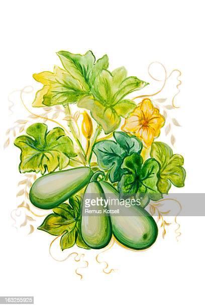 Zucchini Painting