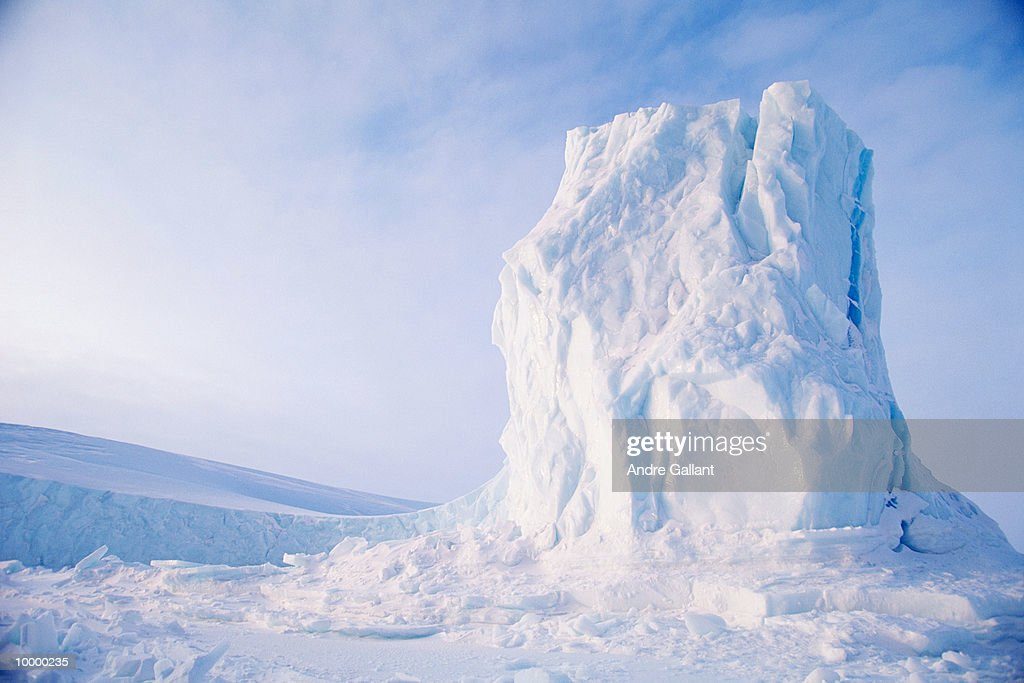ICEBERG ON BAFFIN ISLAND IN CANADA : Stock Photo