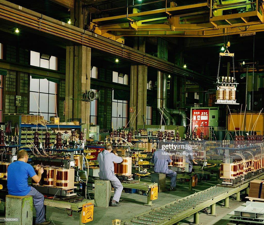 TRANSFORMER MANUFACTURING IN BELGIUM : Stock Photo