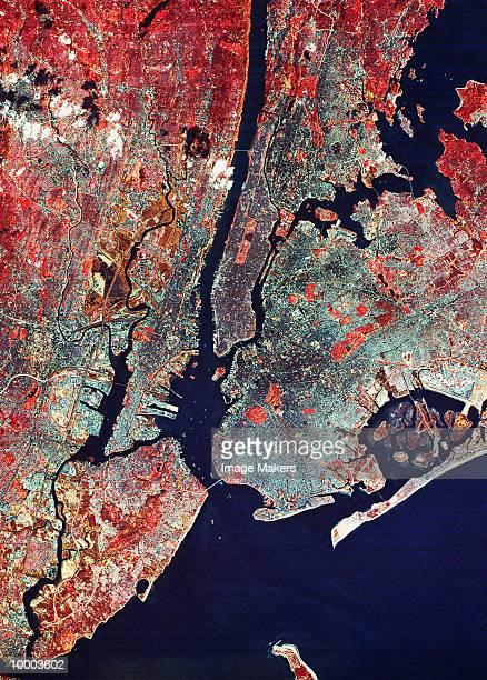 SATELLITE VIEW OF NEW YORK CITY