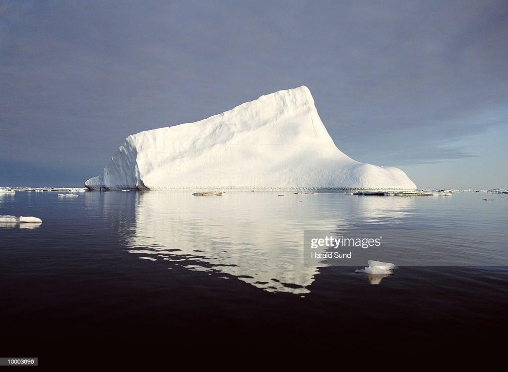 ICEBERG AT AMMASSALIK FJORD IN GREENLAND : Stock Photo