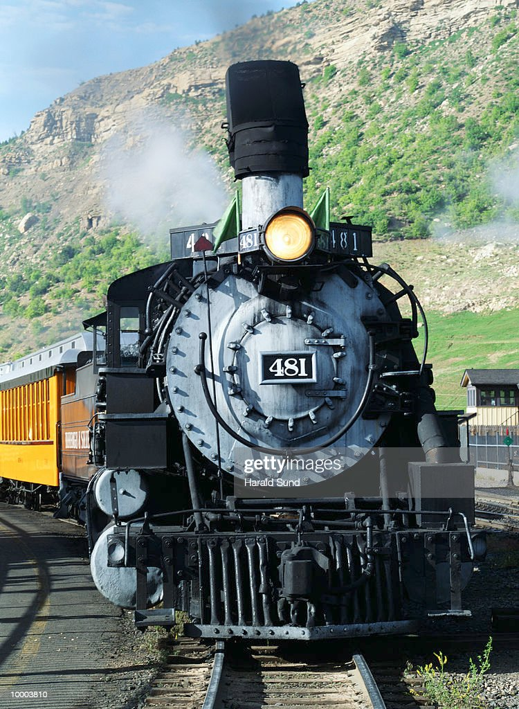 STEAM ENGINE TRAIN IN DURANGO, COLORADO : Stock Photo