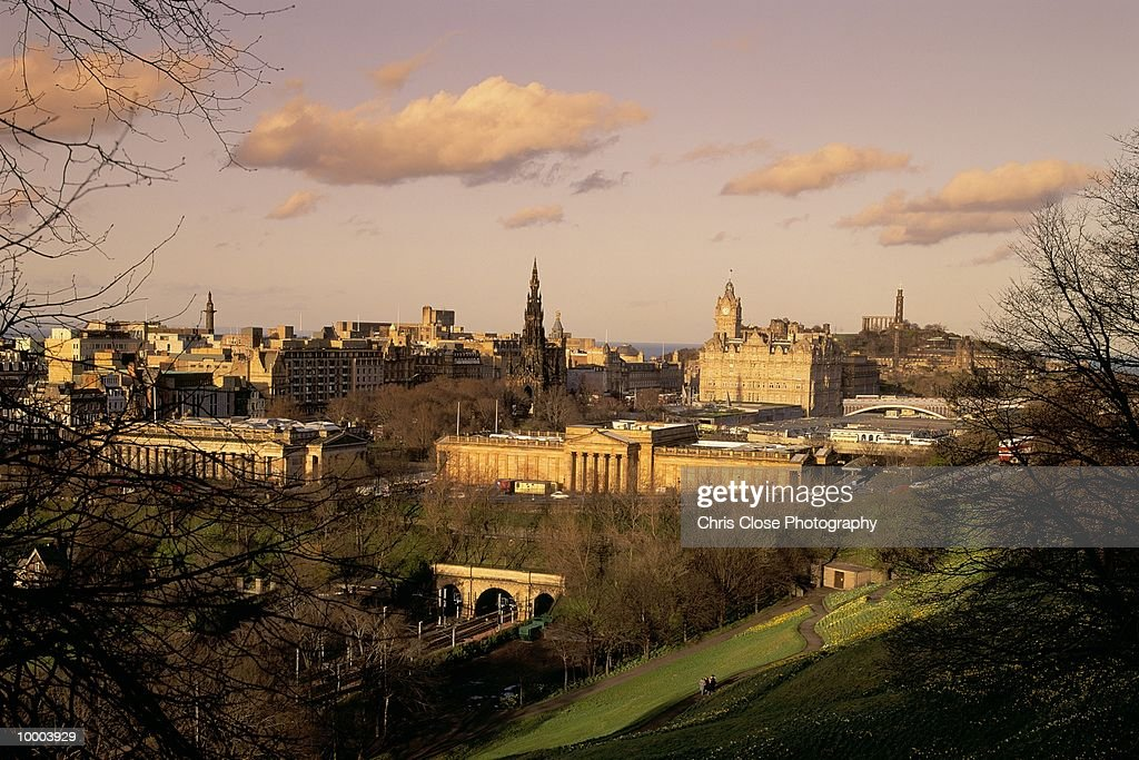 OVERVIEW OF EDINBURGH, SCOTLAND : Stock Photo