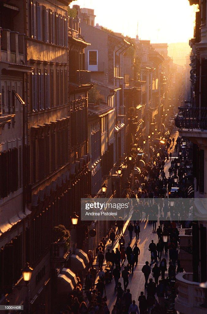 VIA CONDOTTI IN ROME : Stock Photo
