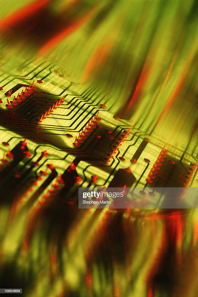 CIRCUIT BOARD IN ABSTRACT : Stock-Foto