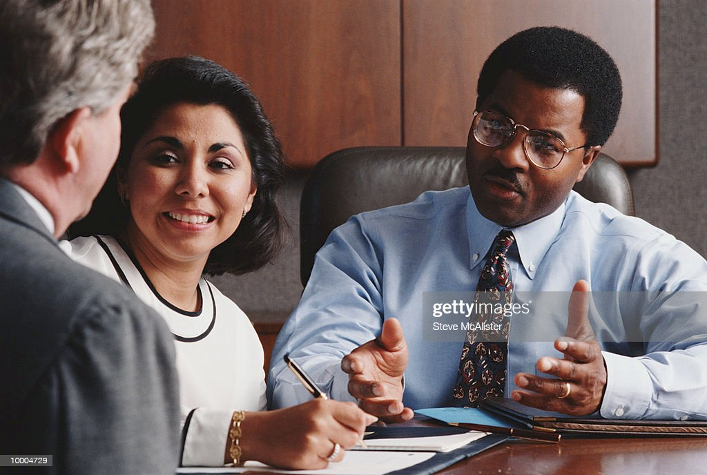 SMALL MULTI-ETHNIC BUSINESS CONFERENCE : Stock Photo