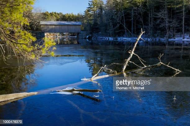 me-windham-babbs covered bridge - brook mitchell bildbanksfoton och bilder