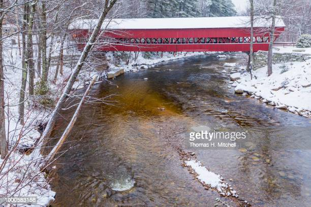 nh-#47-conway-swift river bridge - swift river stock pictures, royalty-free photos & images