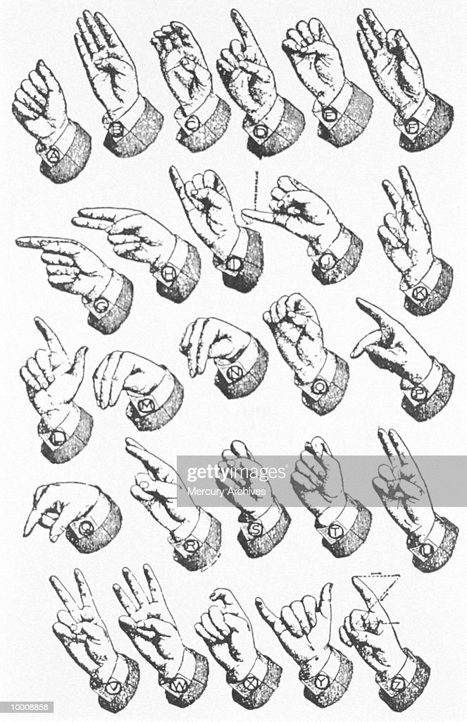 Symbols Sign Language Alphabet Stock Photo Getty Images