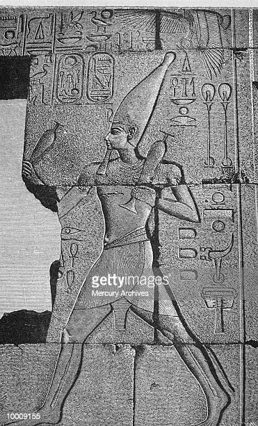 ART: TEMPLE OF HORUS BAS-RELIEF