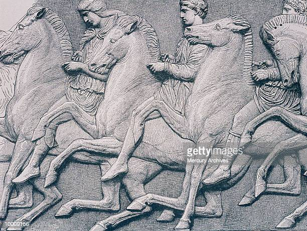 ART: HORSES FROM THE PARTHENON FRIEZE
