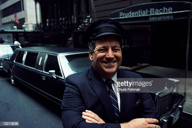 DRIVER BY LIMOUSINE & BUILDING IN NEW YORK CITY