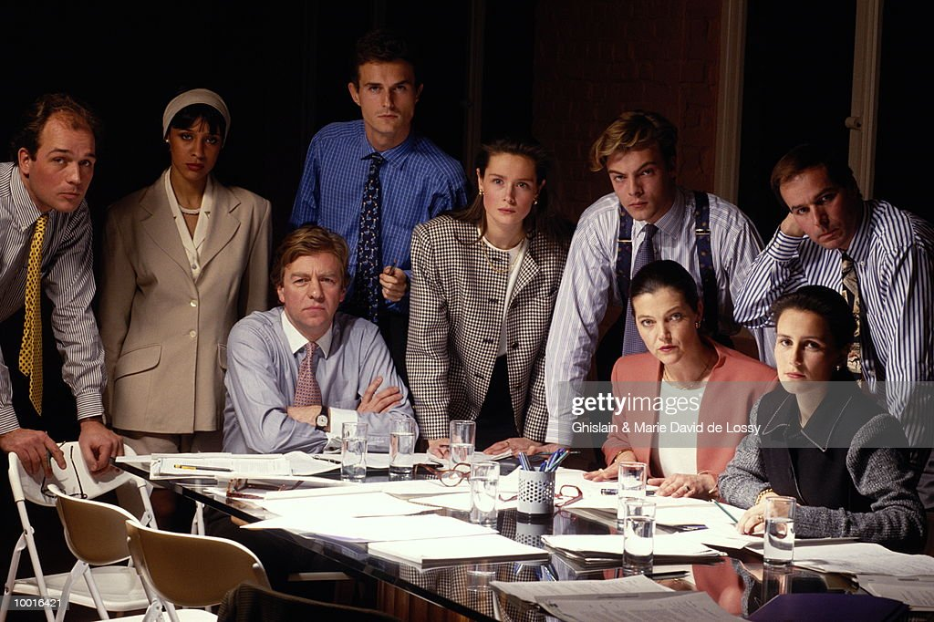 PORTRAIT OF BUSINESS CO-WORKERS : Stock Photo