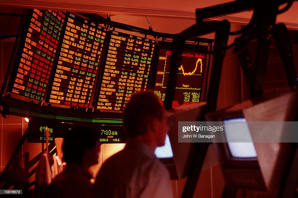AUSTRALIAN. STOCK EXCHANGE IN MELBOURNE : Stock Photo