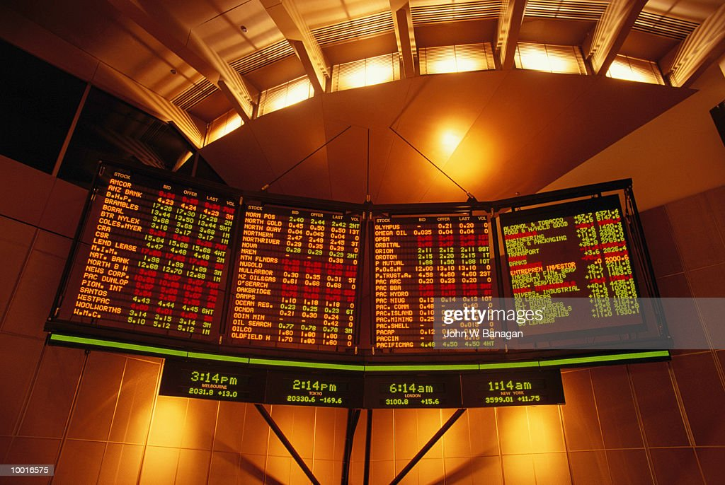 INTERNAL VIEW OF THE AUSTRALIAN STOCK EXCHANGE IN MELBOURNE : Stock Photo