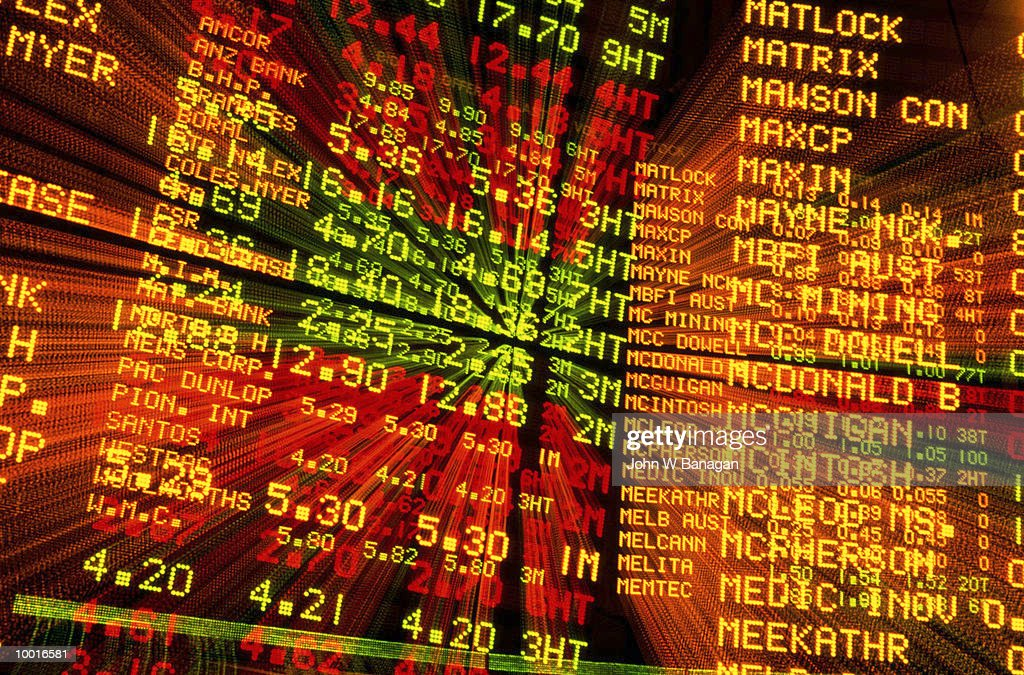 AUSTRALIAN STOCK EXCHANGE IN MELBOURNE : Stock Photo