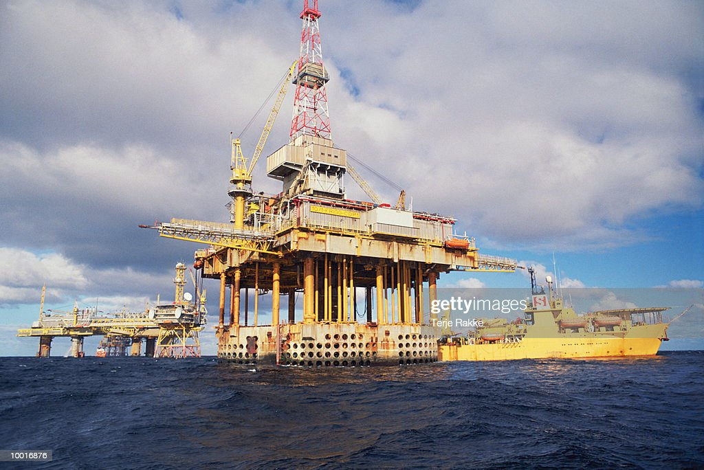 OIL INDUSTRY, FRIGG FIELD IN NORTH SEA : Stockfoto