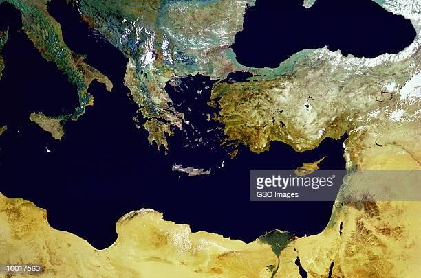 SATELLITE IMAGE OF THE MEDITERRANEAN REGION