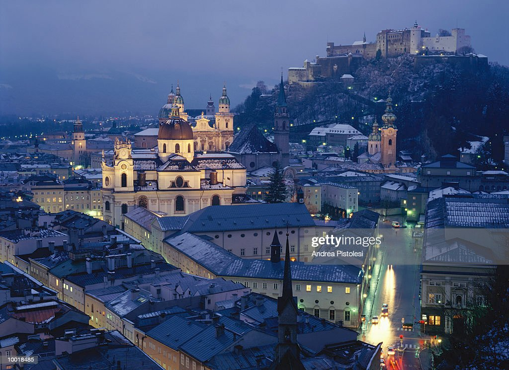 SALZBURG, AUSTRIA FROM MONCHSBERG : Stock Photo