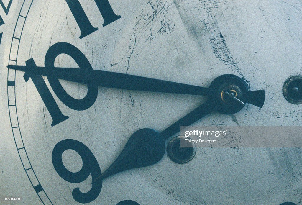 CLOCK IN DETAIL : Stockfoto